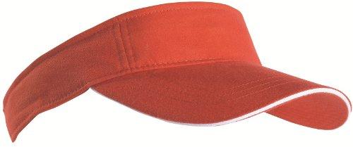 sports-sun-visor-sandwich-peak-golf-tennis-cap-hat-12-colours-mb6123-orange-white
