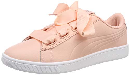 Puma Vikky v2 Ribbon Core, Damen Sneakers, Pink (Peach Bud-Puma Silver-Puma White), 37 EU