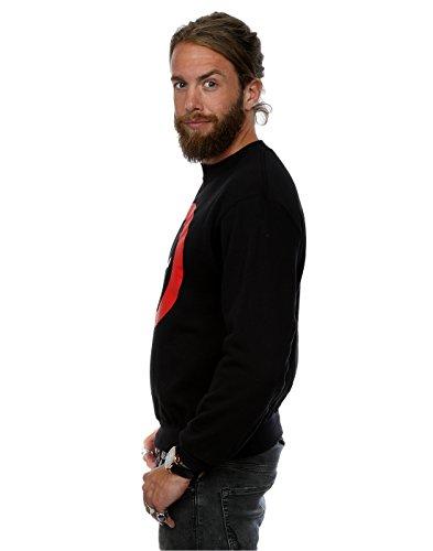 Marvel Herren Deadpool Clean Logo Sweatshirt Schwarz