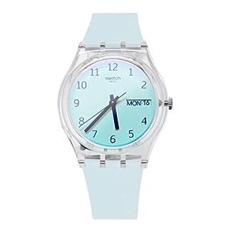 Swatch Reloj Analógico para Mujer de Cuarzo con Correa en Silicona GE713