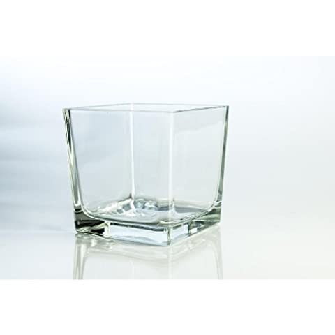 Cube Transparent - Grand photophore en verre KIM, transparent, 14