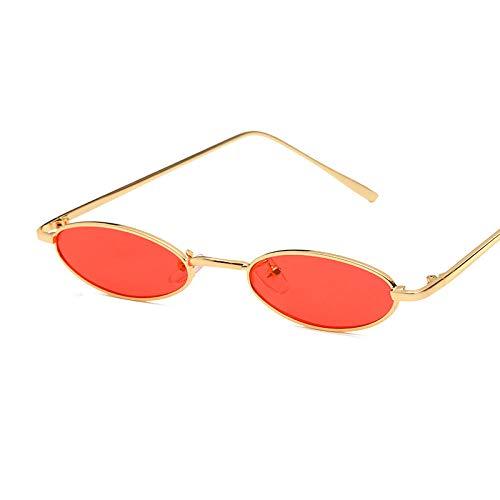 MINGMOU New Metall Sonnenbrille Elliptische Sonnenbrille Kleinen Rahmen Ozean Stück Sonnenbrille Männer Und Frauen Persönlichkeit Brille Net Rot Mit Dem Gleichen Absatz, C720