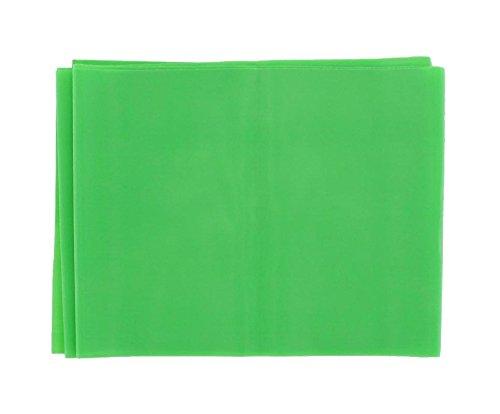 Gima - Fascia o Banda Elastica per Riabilitazione, Colore: Verde, Resistenza Light, Misura 1,5 m x 14 cm x 0,25 mm, Senza Lattice