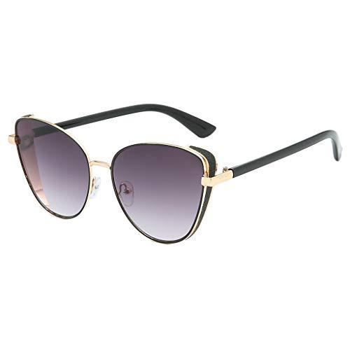 iCerber UV400 Art und Weise nette reizvolle Retro Sonnenbrille Classic Cateye Katzenaugen Damen Designerbrille Sonnenbrille Metallrahmen Brillenrand 6.0cm Süßigkeit-Farbe