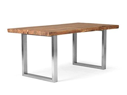 massivum Esstisch Kenai 210x100x76 cm aus Akazie Massiv-Holz lackiert Gestell Metall Holz-Tisch