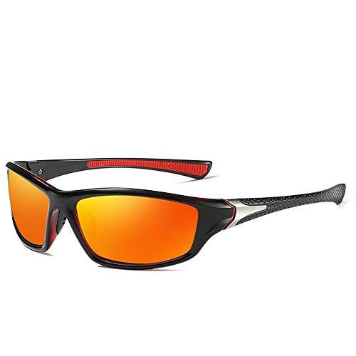 Easy Go Shopping Ultraleichte UV400 Sonnenbrille Herren High Definition Polarized Sports Polarized Sonnenbrille Sonnenbrillen und Flacher Spiegel (Color : Orange, Size : Kostenlos)