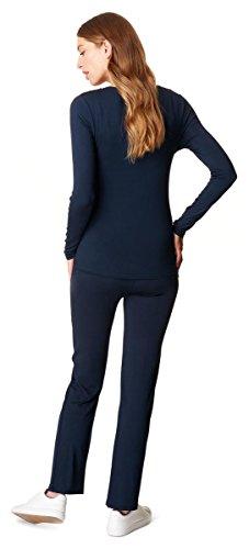 Noppies Pyjamas Amanda / 2 dans 1 Pyjama maternité Sommeil Chemise + Pantalon pyjama Lingerie de nuit fermé pyjama Bleu - Hose & Shirt