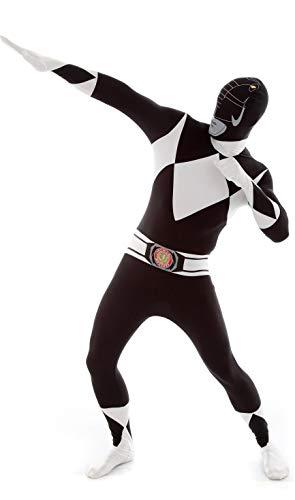 KULTFAKTOR GmbH Power Rangers Morphsuit Lizenzware schwarz-Weiss L (bis zu 1,80 m)