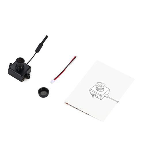 OS Mini FPV Kamera CAM RC Spielzeug Teile Zubehör mit 5,8G 40CH 25mW VTX 3dBi Peitsche Antenne-Schwarz-1 Größe ()
