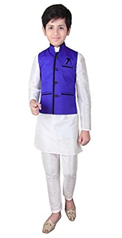 Boys Indian Modi Nehru Gandhi Style Waistcoat for Bollywood theme