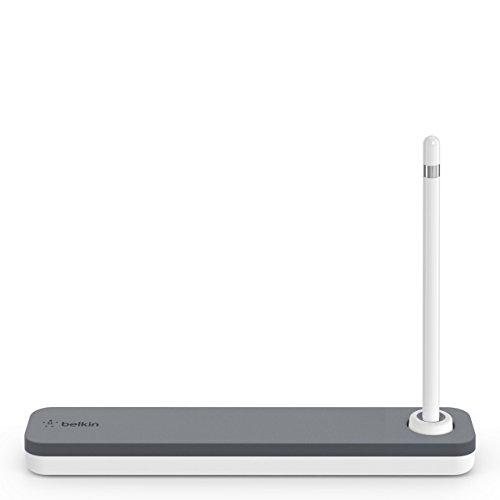 Belkin F8J206btGRY - Funda + soporte para Apple pencil, color blanco y gris width=