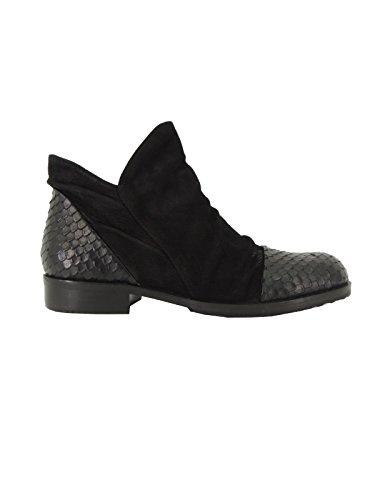 Bruno Premi I1701X scarpa donna stivaletti bassi alla caviglia made in Italy (38, NERO)
