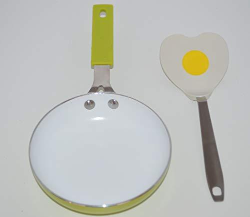 Sartén individual Ceramique Diam 14cm + espátula