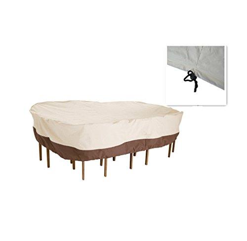 UniEco Gartenmöbel Schutzhülle Abdeckung für Sitzgruppe 270x210x60cm Rechteck