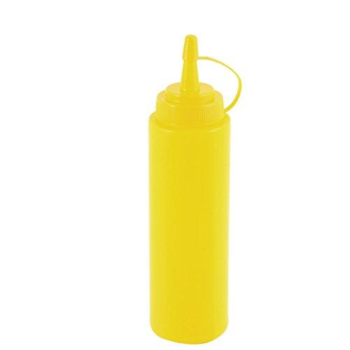 Preisvergleich Produktbild sourcingmap Küche Kunststoff Soße Essig Jam Creme flüssige Quetschflasche Menage Gelb 900 ml de