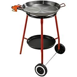 Kit Paella complet Set pour la cuisine en plein air, convient particulièrement pour la préparation de la paella