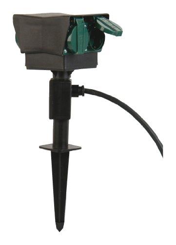 uniTEC 44208 Erdspiess mit 4-fach Steckdose 1,5m-Zuleitung
