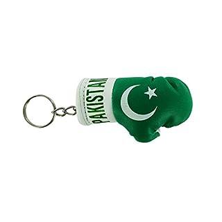 Akacha Schlüsselanhänger mit Boxhandschuh, Motiv: Flagge Pakistans