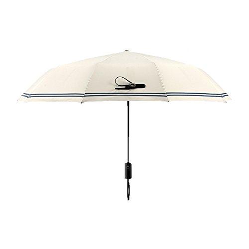 TaschenschirmeAutomatische Regenschirm - Männliche Lady Black Gel Anti - Storm Umbrella,Weiße (Männlich-gel)