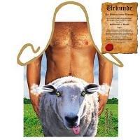 Grill-Schürze Mann mit Schaf Fun Koch-Schürze Küchen-Schürze Set geil bedruckt mit gratis Griller Urkunde