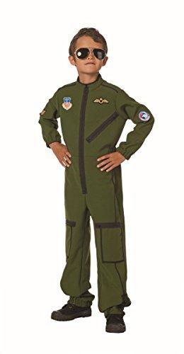 (Armee Kinder Kostüm Jetpilot Soldat Karneval Fasching Gr.176)