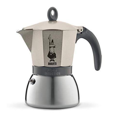 31qEW67ob3L. SS500  - Bialetti Moka Induction Stovetop Coffee Maker (6 Cup) - Light Gold