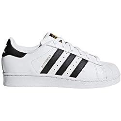 adidas Originals Superstar, Scarpe unisex per bambini, Bianco (Ftwr Bianco / Nucleo Nero / Bianco Ftwr), 37 1 / 3 EU