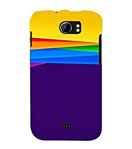 PrintVisa Colorful Art Pattern 3D Hard Polycarbonate Designer Back Case Cover for Micromax Canvas 2 A110 A110Q