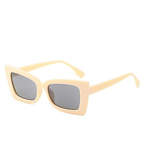 YWYU Europa und die vereinigten Staaten Trend Neue große Rahmen Sonnenbrille Unisex persönlichkeit Platz Sonnenbrille Mode Trend rote Sonnenbrille (Farbe : G)