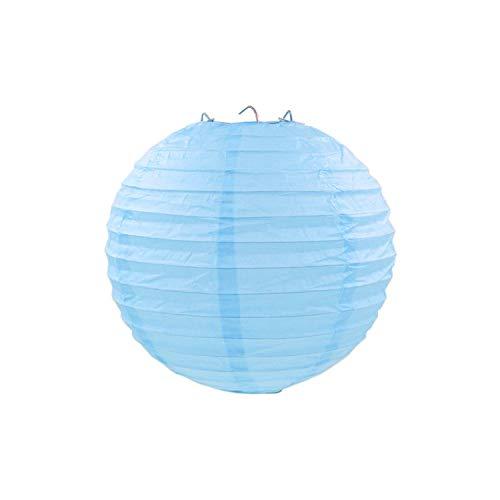rlaternen Geburtstag Hochzeitsdeko Geschenk-Fertigkeit DIY hängende Kugel-Partei-Versorgungsmaterialien, See blau, 4inch 10cm ()