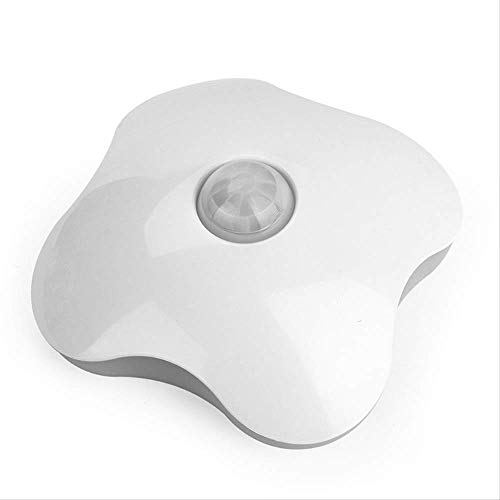 Nachtlicht MYKK Hochwertige Menschliche Körper Pir Motion Sensor Nachtlicht Vier Blatt Kleelampen Körper Sensor Smart Lichter Für Notfall Heißen Verkauf Wie gezeigt Warm White -