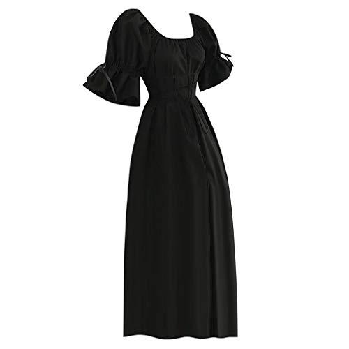 Für Erwachsene Mittelalterliches Kostüm Shirt - Sonnena 2019 Halloween Kleid Retro Kleid Elegante Kleider Lange Damen Mittelalterliche Kleid mit Trompetenärmel Cosplay Kostüm Abendkleider Partykleid