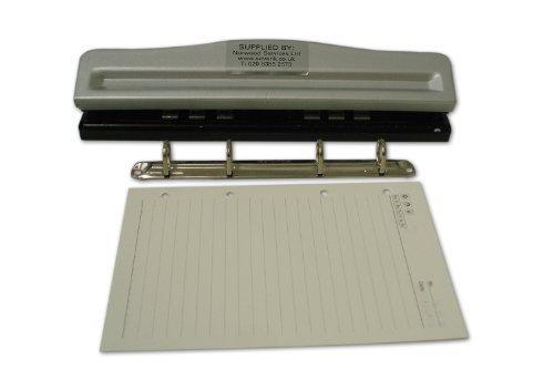 Locher mit 4 Löchern, verstellbar bis zu einer Größe von DIN A4, auf DIN A5 voreingestellt, 45/65/45 mm