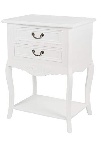 elbmöbel Nachttisch Beistelltisch weiß Antik shabby chic ...
