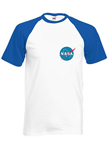 Nasa National Space Packet Pocket America Royal Blue/White Men Women Unisex Shirt Sleeve Baseball T Shirt-XXL par  NisabellaLTD