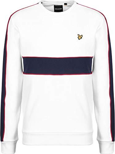 Lyle & Scott Herren Sweatshirt zuschneiden & nähen, Weiß, X-Large -