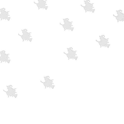 Happy Halloween Hexe Dekorationen, qisc Home Wandtattoo Wandbild Decor Aufkleber Entfernbare Fenster Party Supplies (weiß)