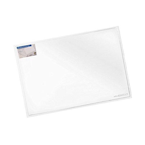 Schreibunterlage 50 x 70 cm transparent, abwischbar, rutschfest, glasklare Schreibtischunterlage (Klar, Schreibtisch)