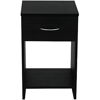 budget bedroom furniture with 1drawer bedside cabinet 33 x x 565 cm wood black ash