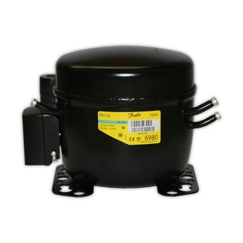 DOJA Industrial | Compresor SECOP FR11G R-134a 3/8 con V | DANFOSS  BAJA/MEDIA/ALTA 11,15 cc