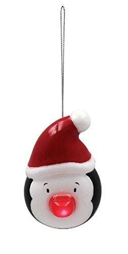 f73ab2e48 Lindo Pingüino LED Rojo Nariz Blanco Negro Decoración de Navidad Adorno  10X11X9CM