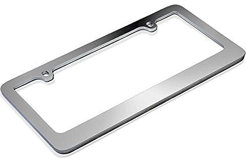 Chrome Plain License Plate Frame Universal