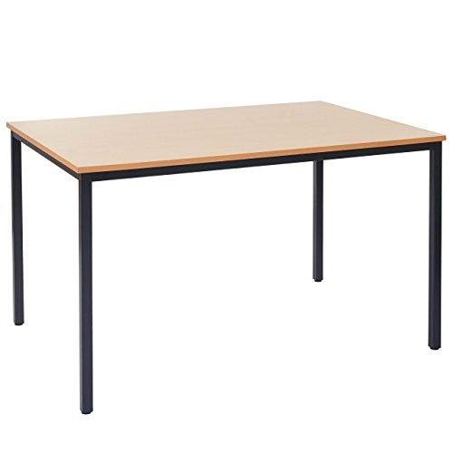Schreibtisch Braila, Konferenztisch Bürotisch Seminartisch, 120x80cm ~ Buche-Optik