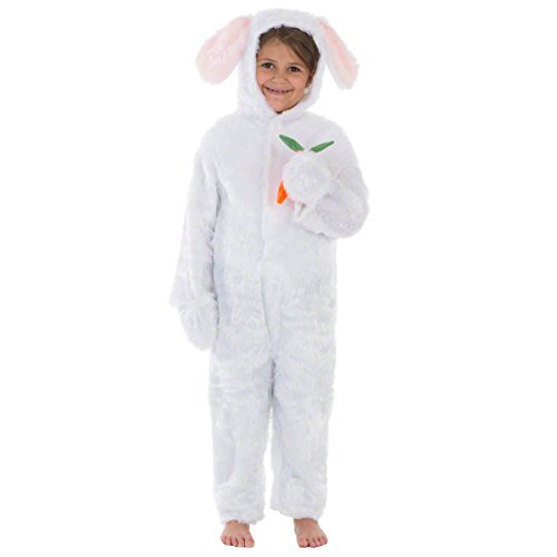 Charlie crow coniglio / lepri bianco costume per i bambini. taglia 6-8 anni.