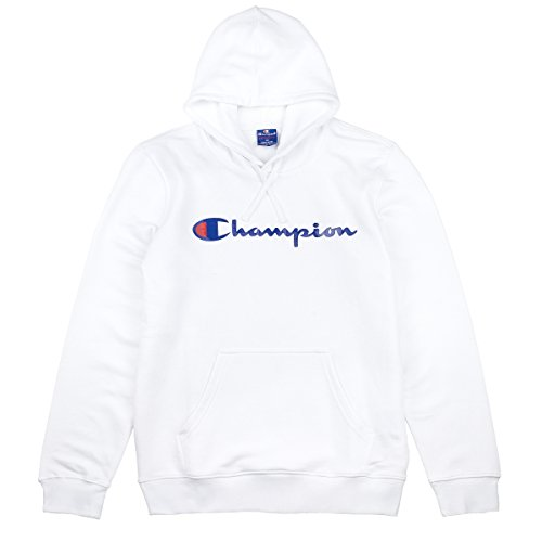 Champion Herren Kapuzenpullover Hooded Sweatshirt-American Classics, Weiß (Wht), Medium (Hooded-sweatshirts Wieder)
