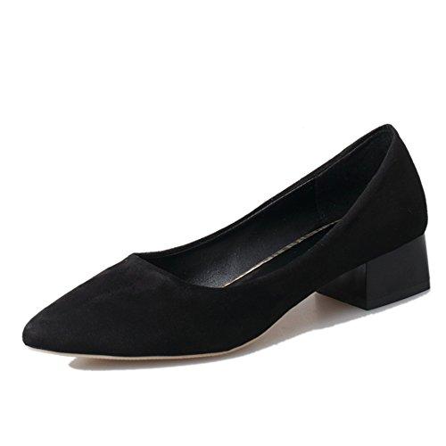Rough printemps mode casual chaussures femme/pointue daim chaussures asakuchi pied/Chaussures femme C