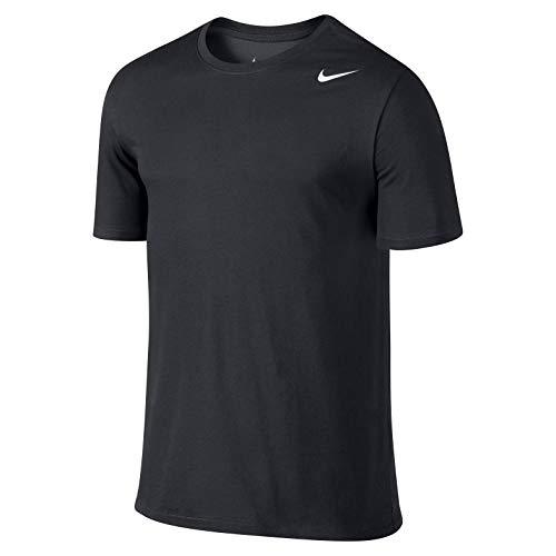 Nike Herren Dri-Fit Cotton Kurzarm 2.0 T-Shirt, Schwarz (Schwarz (Schwarz-Weiss)), M