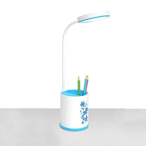 Stift Behälter Tabellen Lampe LED Leselampe nachladbarer Noten Sensor 3 Niveau Helligkeit Blue