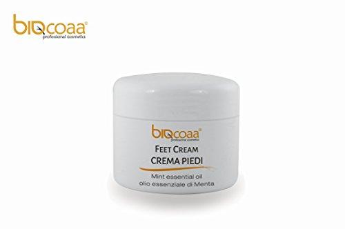 Crema piedi Biocoaa – specifica per i cattivi odori - con olio essenziale di menta – aiuta a contrastare i piedi stanchi e affaticati – prodotto naturale – made in italy – 100 ml