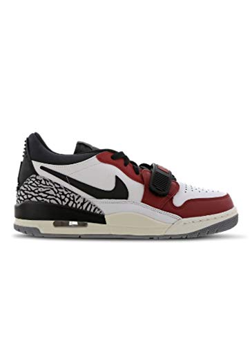 Nike Air Jordan Legacy 312 Low Herren Basketball Trainers CD7069 Sneakers Schuhe (UK 9.5 US 10.5 EU 44.5, Summit White Black red 106)